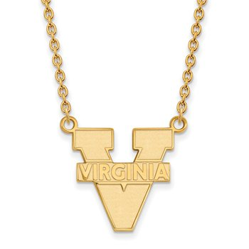 Gold University of Virginia NCAA Necklace