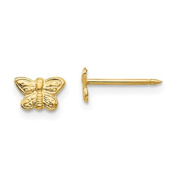 Inverness 14k 7mm Butterfly Earrings