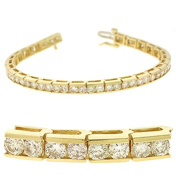 Channel Set Tennis Bracelet