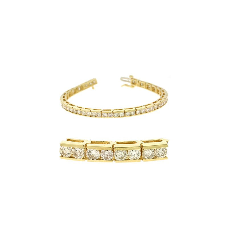 S. Kashi  & Sons Channel Set Tennis Bracelet