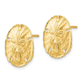 14k Large Sanddollar Post Earrings