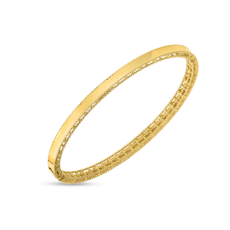 Roberto Coin 18KT GOLD SYMPHONY NEW BAROCCO OVAL BANGLE