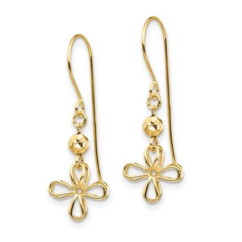 14k Open Clover Dangle Earrings