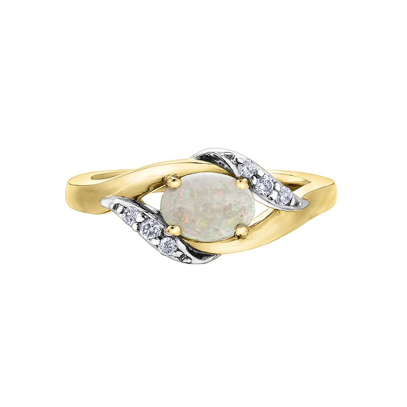 Diamond Days Opal Ladies Ring