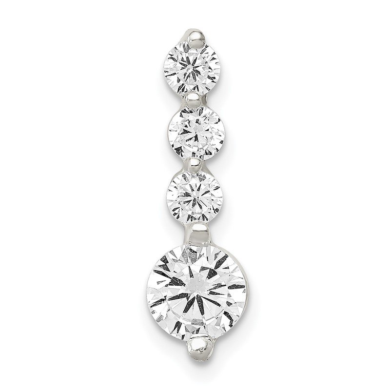 Quality Gold Sterling Silver Polished CZ Pendant