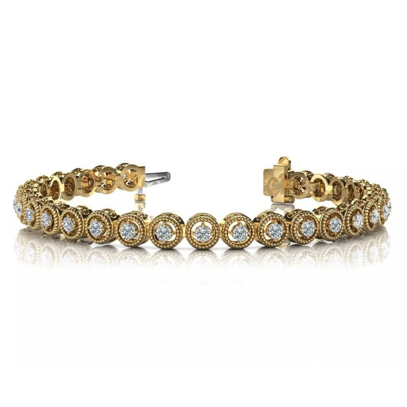 S. Kashi  & Sons Yellow Gold Diamond Bracelet