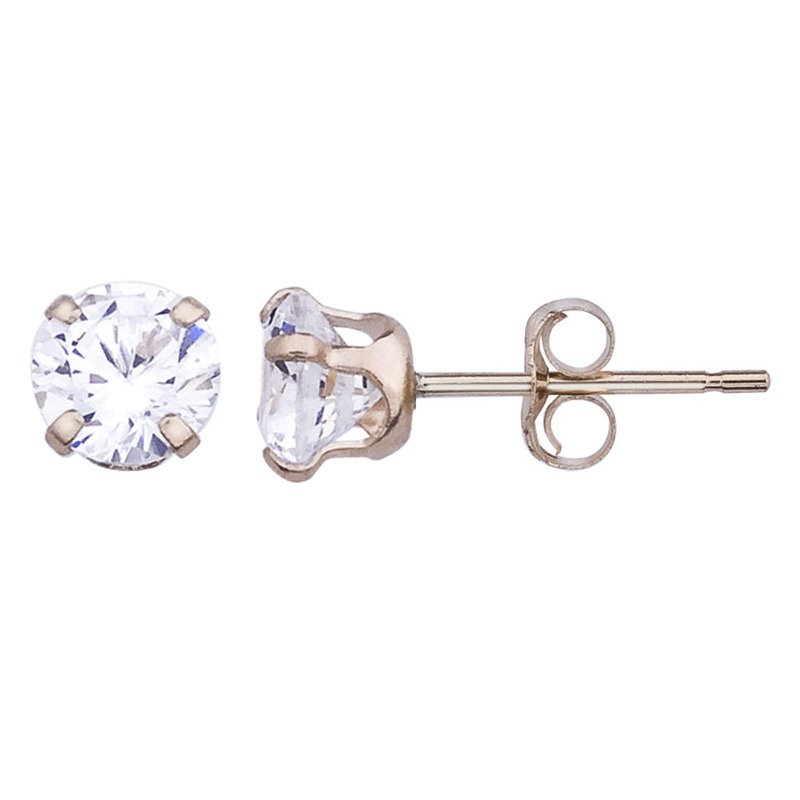 Color Merchants 14k Cubic Zirconia Stud Earrings