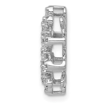 14k White Gold 1/3ct. Diamond Fancy Circle Chain Slide