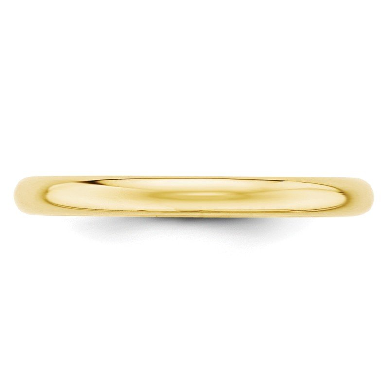 Quality Gold 10KY 2.5mm Half Round Band Size 10