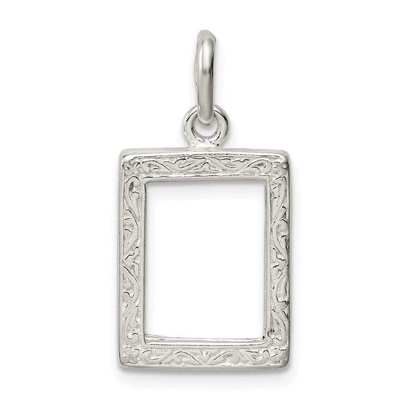 Quality Gold Sterling Silver Picture Frame Charm