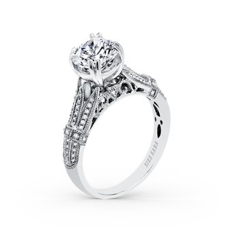 Filigree Vintage Diamond Engagement Ring
