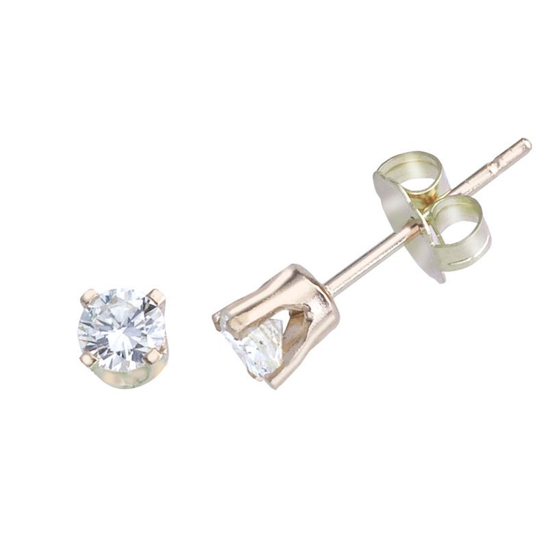Color Merchants 14k Yellow Gold 0.25 Ct Diamond Stud Earrings