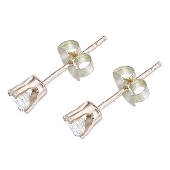 14k Yellow Gold 0.25 Ct Diamond Stud Earrings
