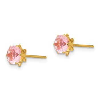 14k Madi K 5mm Synthetic (Oct) Earrings