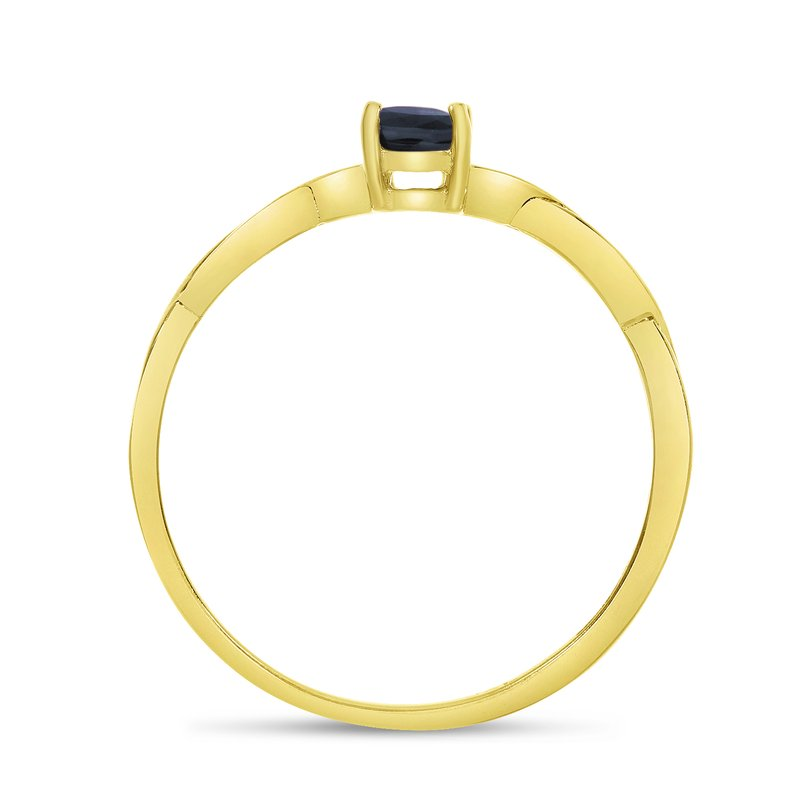 Color Merchants 14k Yellow Gold Oval Sapphire Ring
