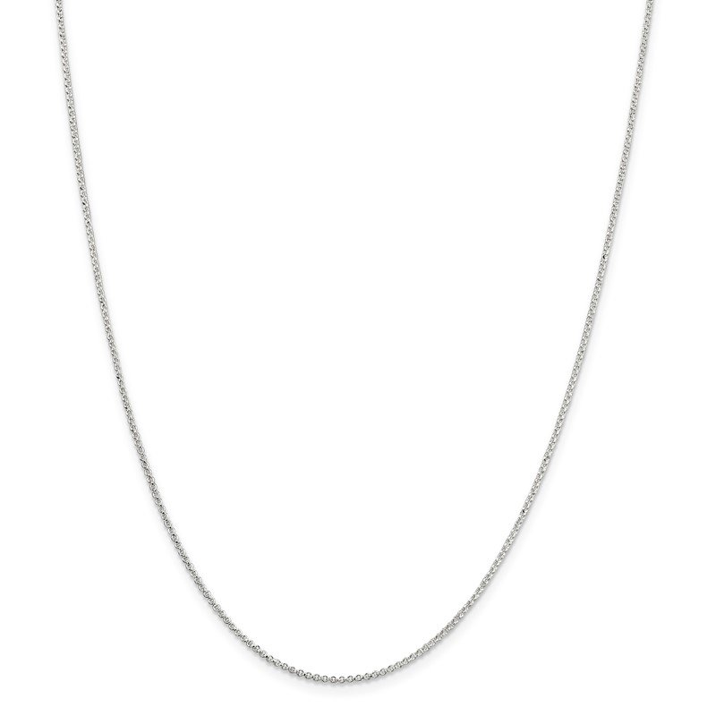 Quality Gold Sterling Silver 1.4mm Rolo Chain