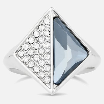 Karl Lagerfeld Signet Ring, Blue, Palladium plated