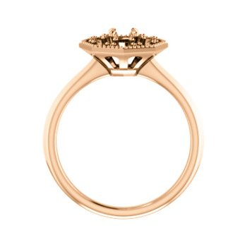 18K Rose 4.1 mm Round Halo-Style Engagement Ring Mounting