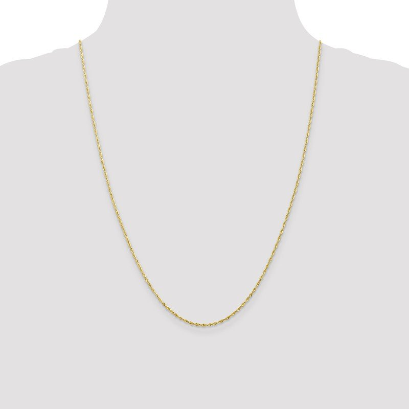 Leslie's Leslie's 10K 1.5mm Diamond-Cut Lightweight Rope Chain