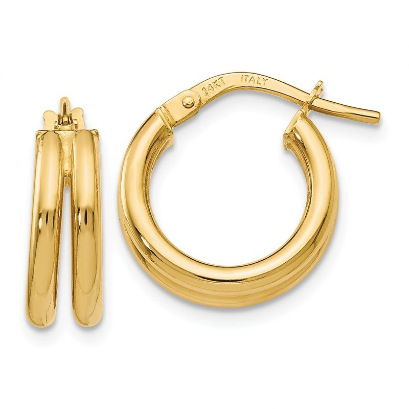 Leslie's Leslie's 14k Polished Double Hoop Earrings