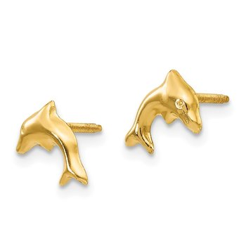 14k Madi K Sm. Dolphin Earrings