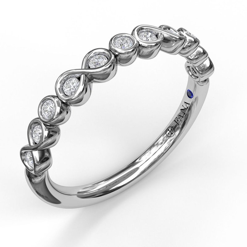 Infinity and Bezel Set Diamond Band