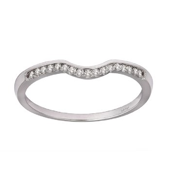 14K Diamond Band 1/8 ctw
