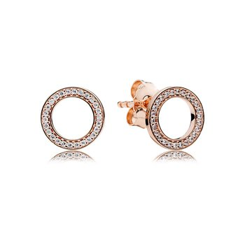 Forever Pandora Stud Earrings, Pandora Rose™ Clear Cz