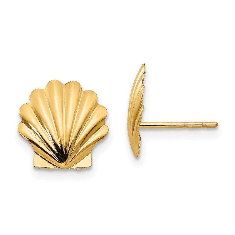 Quality Gold 14k Madi K Shell Post Earrings