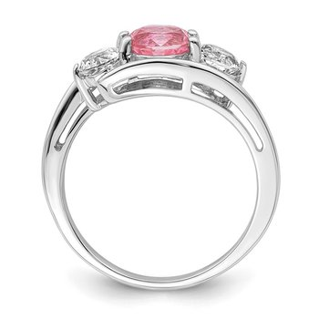10k White Gold Survivor Collection Clear/Pink Swarovski Topaz Sue Ring