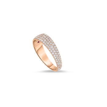 Ring With Diamonds &Ndash; 18K Rose Gold, 6.5