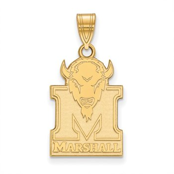 Gold-Plated Sterling Silver Marshall University NCAA Pendant