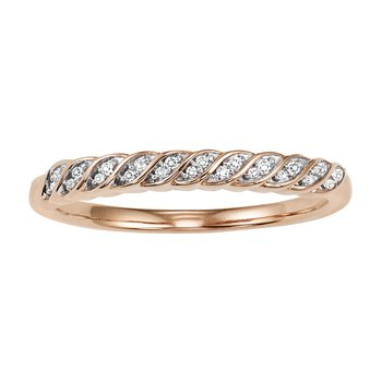 10K Rose Gold Diamond Mixable Ring
