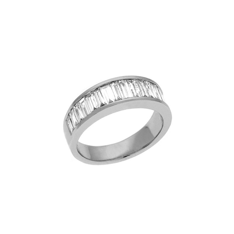 S. Kashi  & Sons White Gold Baguette Band