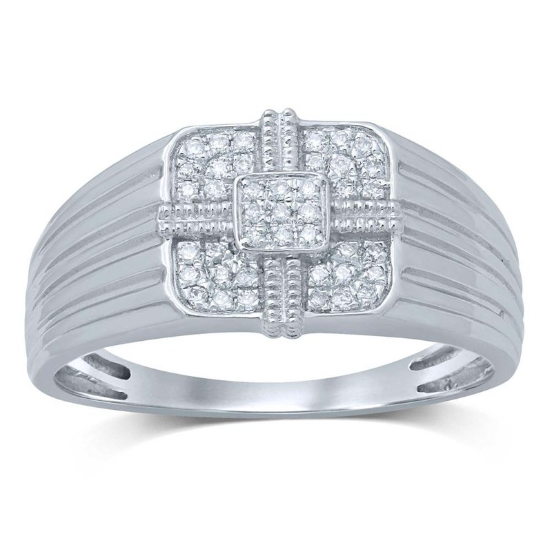 Low Cost Luxury 10K 0.16Ct Diamond Mens Ring