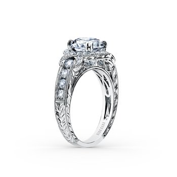Wrap Halo Diamond Engagement Ring