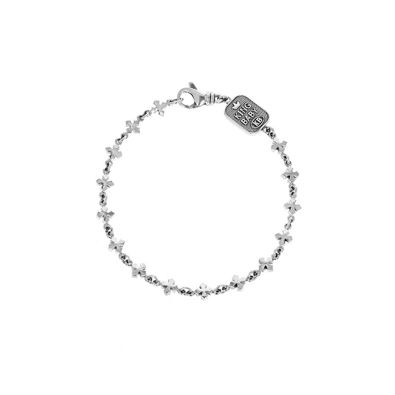 King Baby Small Mb Cross Chain Bracelet