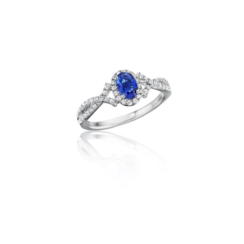 Fana Swirls of Love Sapphire and Diamond Twist Ring