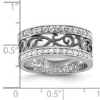 Quality Gold Sterling Silver CZ Black Filigree Design Ring