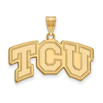Gold Texas Christian University NCAA Pendant