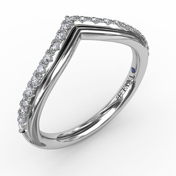 French Pave Chevron Diamond Band