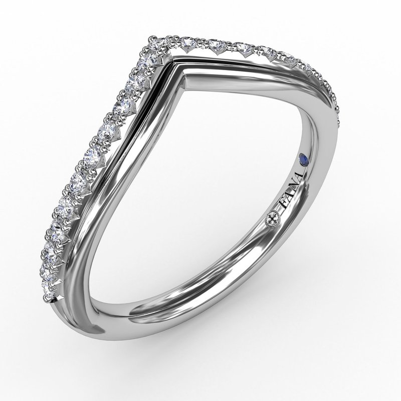 Fana French Pave Chevron Diamond Band