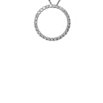 18KT GOLD EXTRA LARGE CIRCLE DIAMOND PENDANT