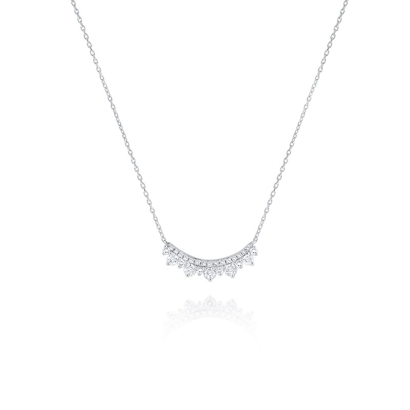 KC Designs 14K Diamond Curve Necklace