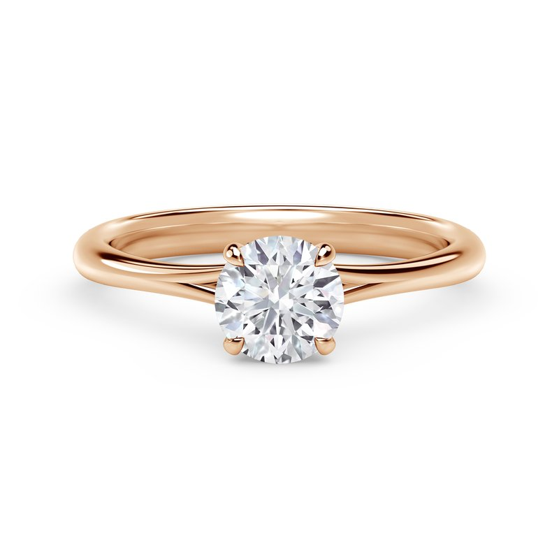 Forevermark Engagement and Commitment Forevermark Icon™ Setting Round Engagement Ring with Diamond Basket