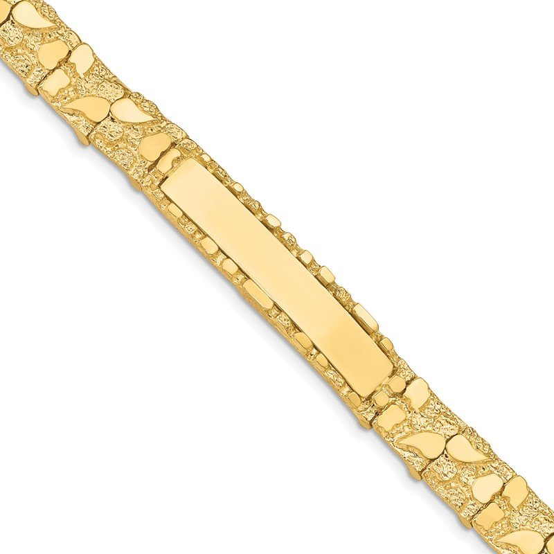Quality Gold 14k 10.0mm Nugget ID Bracelet
