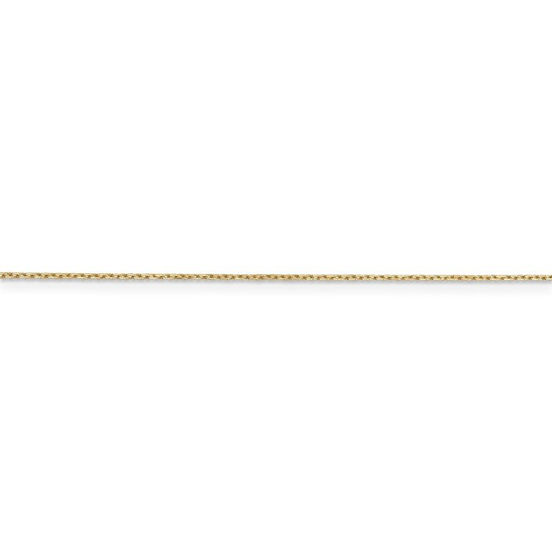 14k .8mm D/C Cable with Spring Ring Clasp Chain