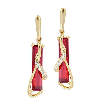 Padparadscha Earrings-CE4391YPD