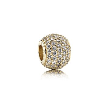 Pavé Lights, Clear Cz 14K Gold