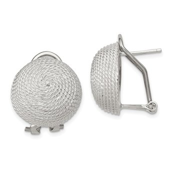 Sterling Silver Omega Back Earrings